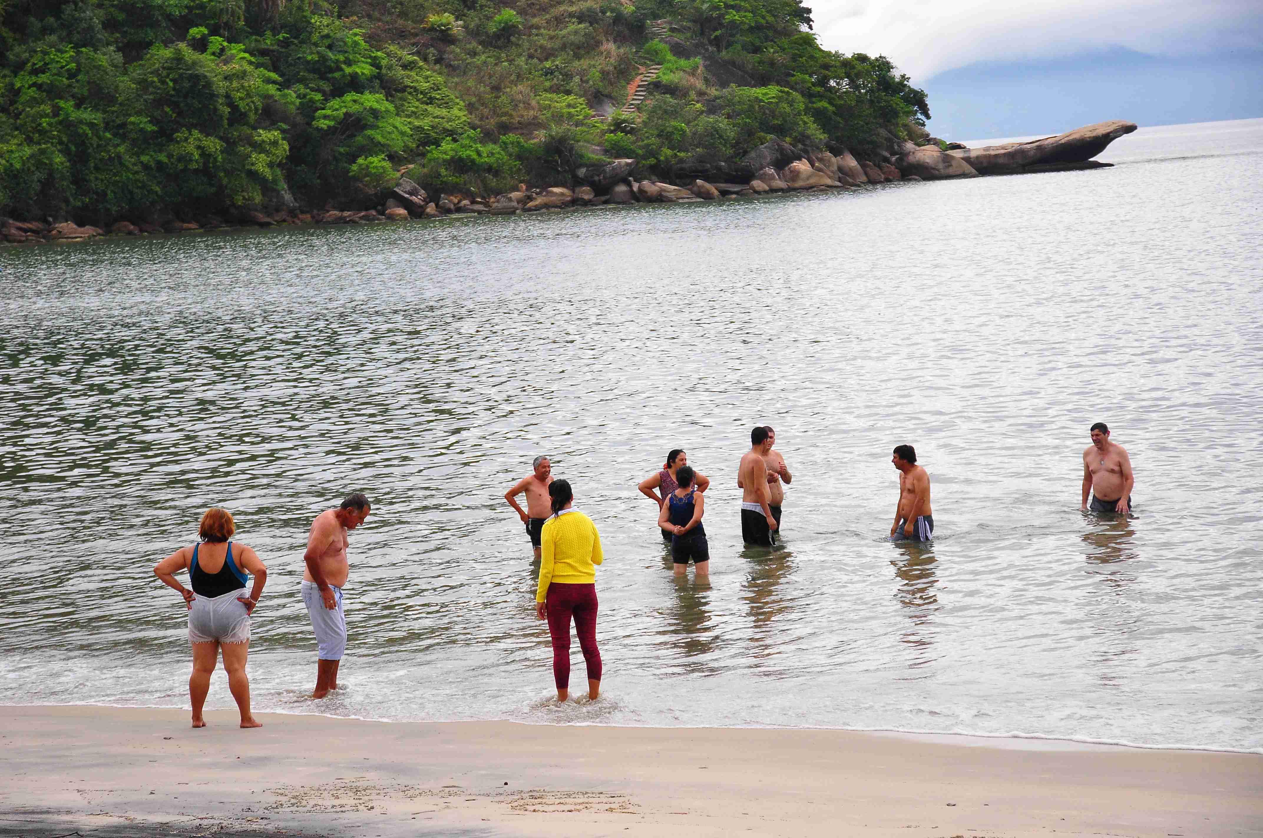 Atendidos pelo Caps de Taubaté visitam Caraguatatuba