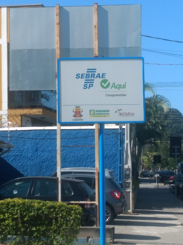 Placa do Sebrae Aqui