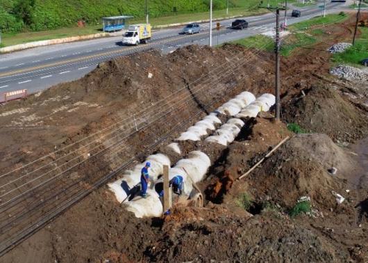 Obras de revitalização da Marginal Jetuba avançam