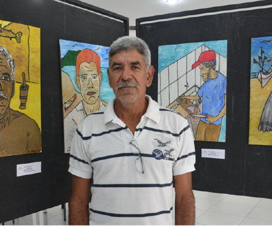 Arnaldo Passos retrata personagens e paisagens de Caraguatatuba
