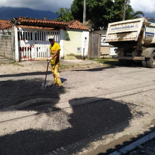 Perequê-Mirim recebe Operação Tapa-Buracos