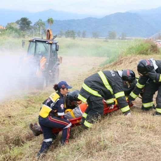 Defesa Civil de Caraguatatuba participa do simulado de acidente na UTGCA