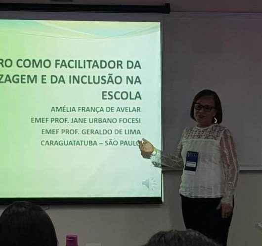 Professora da rede municipal apresenta trabalho em congresso em São Paulo