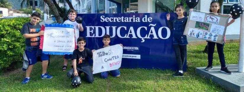 Estudantes fazem caminhada contra a dengue em Caraguatatuba