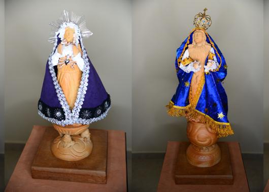Manto de Santo Antonio tem bordado coletivo em exposição de Carlo Cury
