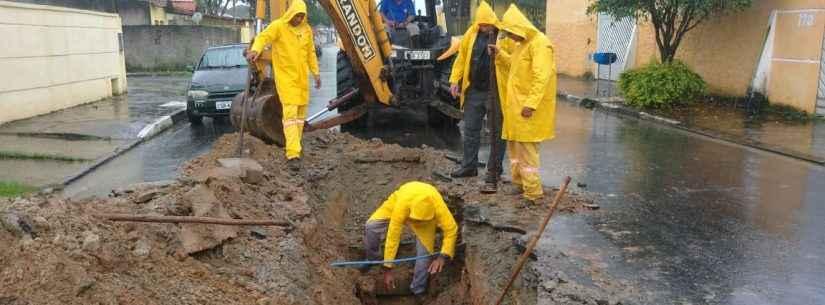 Prefeitura faz manutenção de rede de drenagem no Morro do Algodão