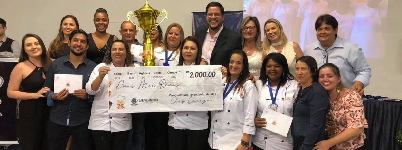 Escondidinho Dengo de mãe da escola Euclydes Ferreira é o vencedor do Chef Caraguá