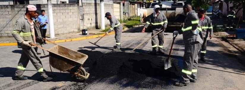 Prefeitura inicia 2ª fase das obras de recapeamento da Guilheme de Almeida, Morro do Algodão