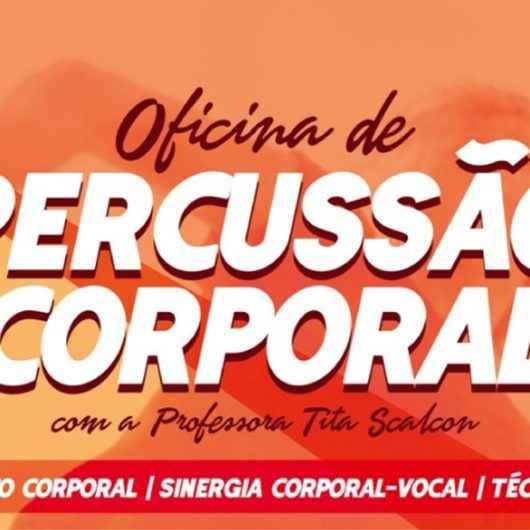 Fundacc recebe oficina gratuita de Percussão Corporal na sexta-feira