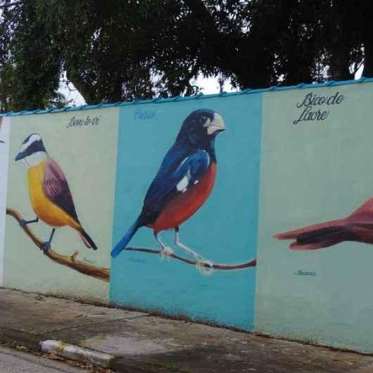 Muro da estação elevatória de esgotos do Porto Novo é revitalizado