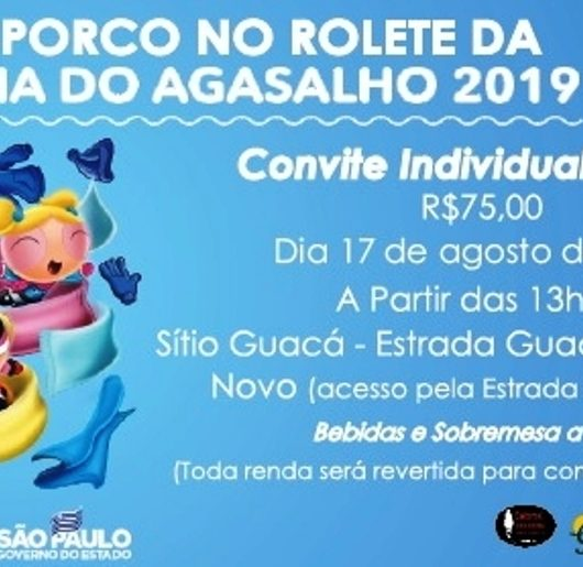 """Em prol da solidariedade: Caraguatatuba realiza neste sábado (17/08) """"4ª Festa do Boi e Porco no Rolete"""""""