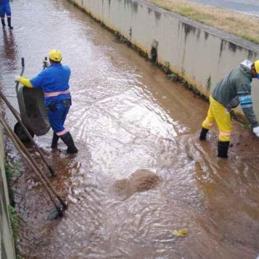 Prefeitura realiza limpeza de principal galeria de drenagem no Sumaré