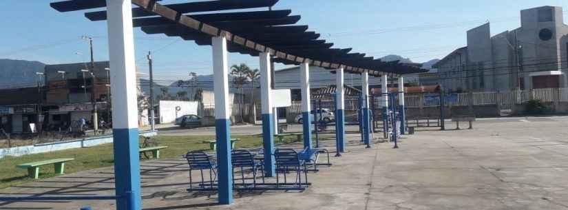 Força-tarefa da Sesep inicia revitalização de praça no Travessão