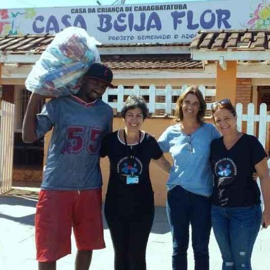 Famílias recebem kit de alimentos do Fundo Social de Caraguatatuba