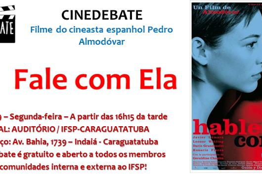 """IFSP traz o filme """"Fale com ela"""" como tema do próximo Cinedebate"""