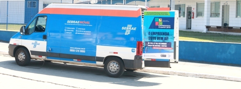 Sebrae Móvel encerra divulgação do Empreenda Caraguatatuba nos bairros na sexta-feira