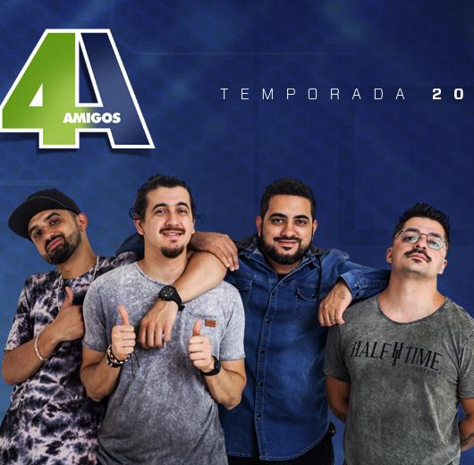 '4 Amigos' retornam ao Teatro Mario Covas com sessão dupla na próxima segunda-feira