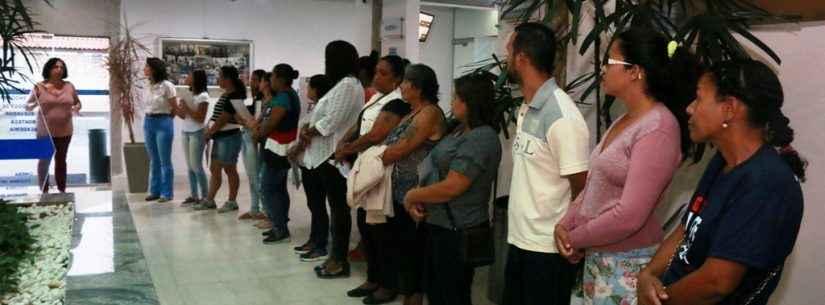 Alunas do Curso Noções em Hotelaria conhecem funcionamento da Colônia de Férias do Senalba no Porto Novo