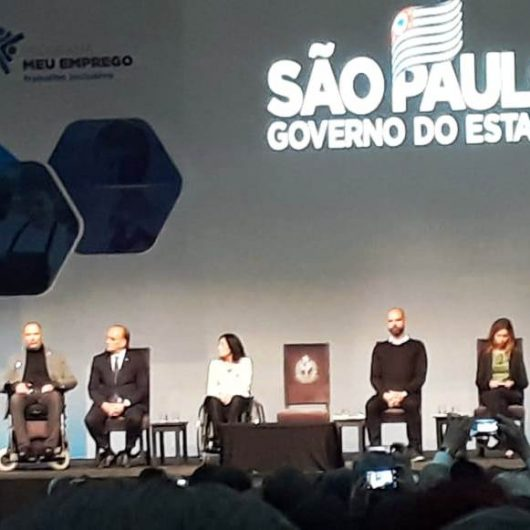 """Caraguatatuba participa do lançamento do programa """"Meu Emprego – Trabalho Inclusivo"""""""