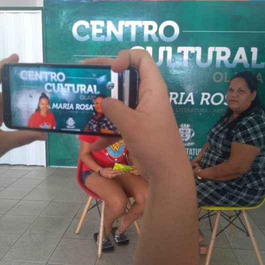 Alunos do 'Projeto Jovem Repórter' da EMEF Luiz Silvar do Prado visitam Centro Cultural do bairro Olaria