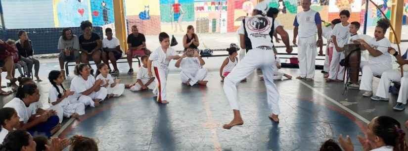 Escola da rede municipal de Caraguatatuba desenvolve projeto de capoeira