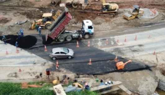 Obras de corte da rodovia no Jetuba serão finalizadas para liberação de trânsito