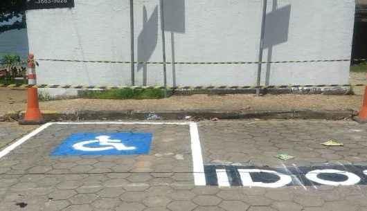 Mobilidade Urbana reforça pintura de vagas de estacionamento na Martim Sá