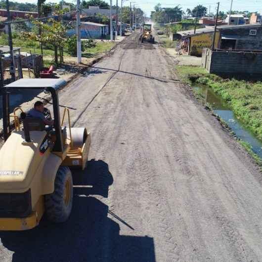Moradores do bairro Pegorelli aprovam recapeamento com asfalto ecologicamente correto