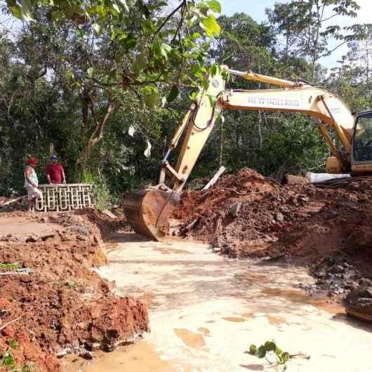 Prefeitura intensifica serviços de prevenção de enchentes no  Recanto dos Pássaros e outros bairros da região Norte