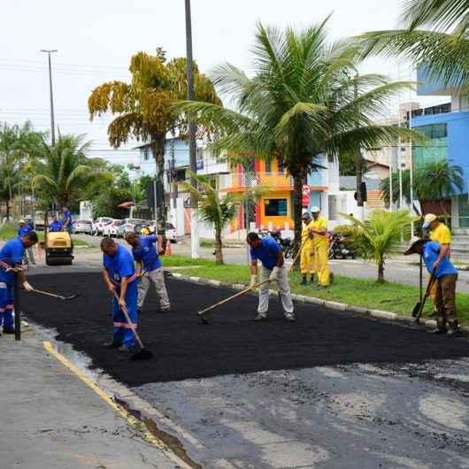 Prefeitura realiza recapeamento asfáltico no Indaiá