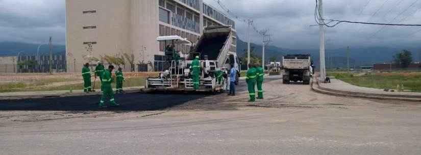 Obras de pavimentação de acesso ao Hospital Regional entram na reta final