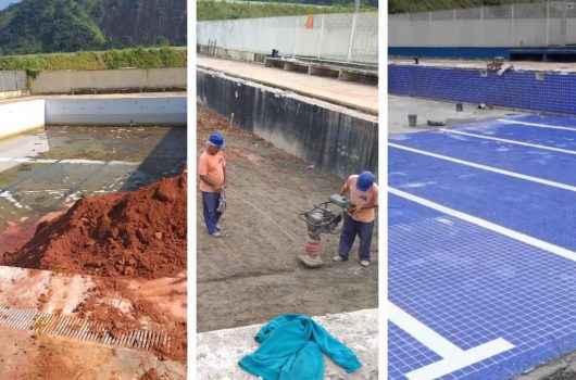 Prefeitura reforma piscina do CIDE Tinga para realização de atividades infantis
