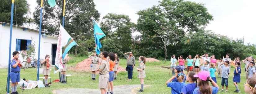 Grupo Escoteiro Caraguatá recebe visitantes de Itupeva