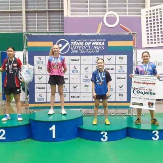 Atletas de Caraguatatuba conquistam ouro e bronze no 53° Campeonato Brasileiro Interclubes de Tênis de Mesa