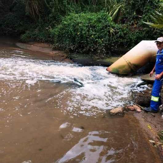 Prefeitura faz fiscalização e descarta lançamento de esgoto no Rio Cocanha