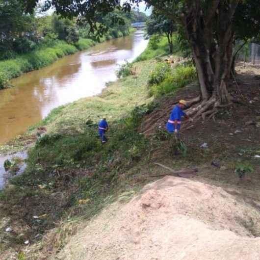 Mutirão de Limpeza é realizado nas margens do Rio Santo Antônio