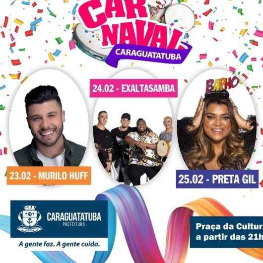 Preta Gil, Exaltasamba e Murilo Huff são atrações do Carnaval 2020 em Caraguatatuba