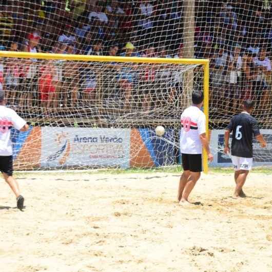 Empate em 3 a 3 marca amistoso de Futebol Máster entre São Paulo e Corinthians na Arena Verão de Caraguatatuba