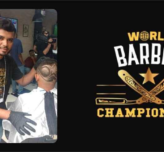 Ex-aluno do CRAS se destaca em competição estadual de barbearia
