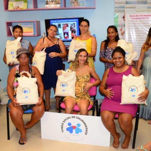 Projeto do Fundo Social de Caraguatatuba entrega 15 enxovais para gestantes