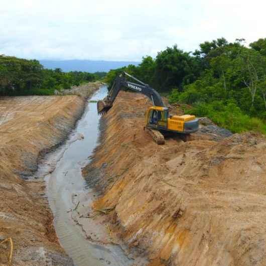 Prefeitura já implantou 4 km de canal de drenagem na Região do Perequê-Mirim