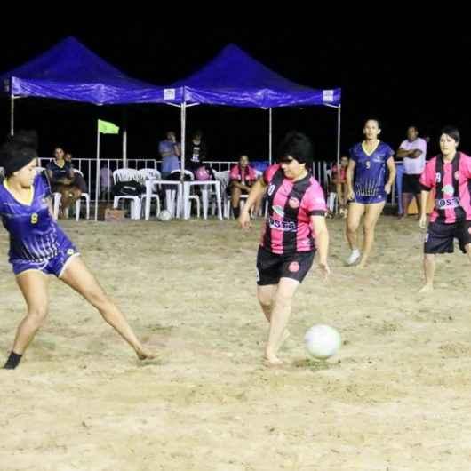 Campeonato de Beach Soccer Feminino da Arena Verão Esportiva entra na reta final