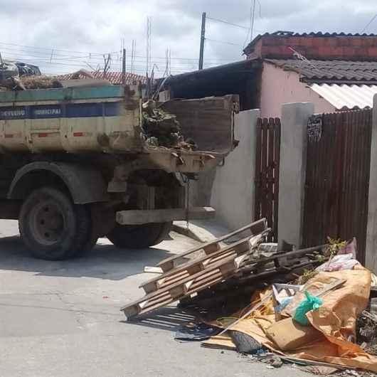 Região Sul de Caraguatatuba recebe operação especial de limpeza