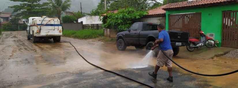 Prefeitura realiza força-tarefa de limpeza nos bairros Perequê-Mirim e Pegorelli