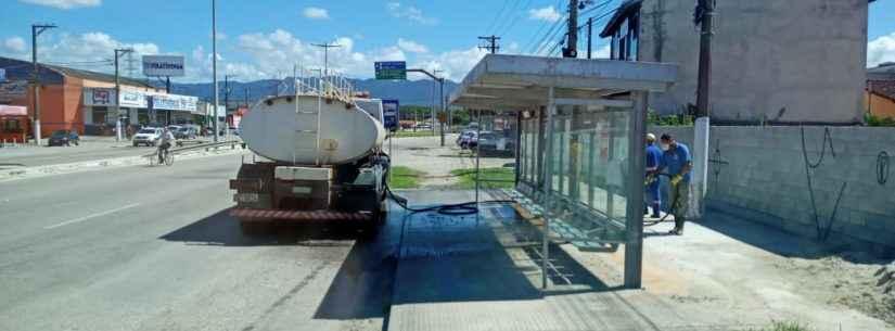 Higienização em espaços públicos chega à Região Sul de Caraguatatuba