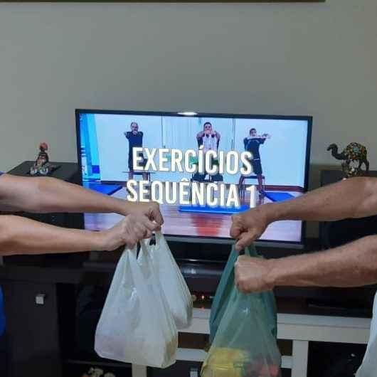 Idosos do Ciapi de Caraguatatuba mantém rotina de exercícios em casa
