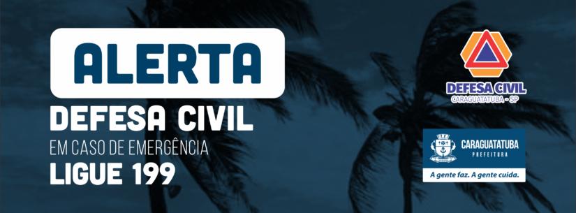 Marinha do Brasil alerta para ventos de até 74 km no Litoral Norte