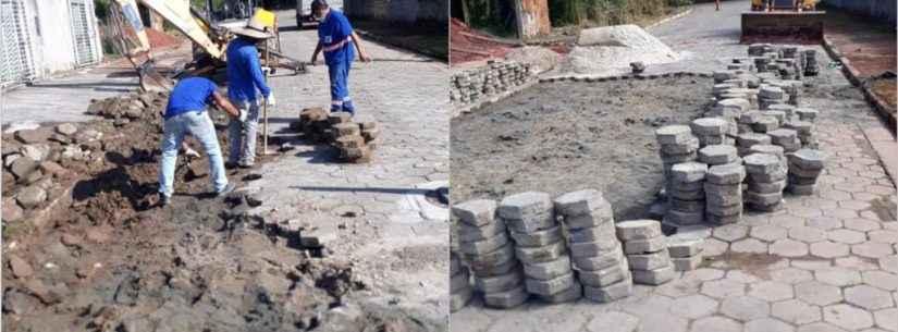 Prefeitura realiza manutenção de vias e reassentamento de bloquetes na Martim de Sá