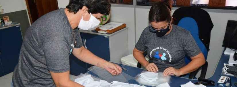 Fundo Social de Caraguatatuba inicia produção de 10 mil máscaras para população em vulnerabilidade social