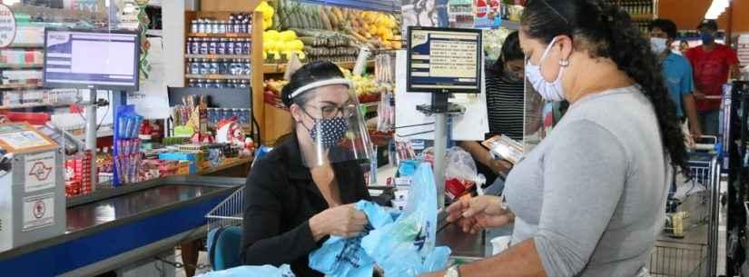 Uso obrigatório de máscaras começa a valer em Caraguatatuba e Vigilância Sanitária fiscaliza comércio
